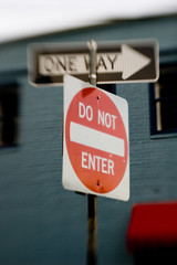 one way to say do not enter