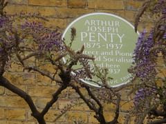 Photo of Arthur Joseph Penty green plaque
