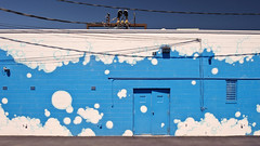 sudsy clean (Ansel Olson) Tags: blue sky white building pool lines car wall bath doors power painted bubbles clean wash tub asphalt suds soapy threemen
