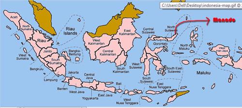 manado map