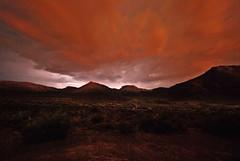 Flashes over Karoo (maesk) Tags: longexposure red night southafrica nationalpark desert tripod thunderstorm sdafrika karoo flashes beaufortwest karoonationalpark