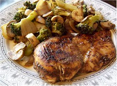 Balsamic Chicken w/ Vegetables (Dairy Free Foodie) Tags: chicken dinner recipe mushrooms sugarfree lowfat glutenfree dairyfree eggfree nutfree quickandeasy