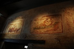 Brothel Paintings in Pompeii (Crumblin Down) Tags: street city italy rock sex stone volcano lava town italian ancient alley ruins italia mt bc roman brother path walk ad prostitute mount walkway pompeii ash vesuvius years preserved hooker vesuvio destroyed kama pompei sutra positions centuries