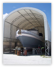 Tenda garasi kapal