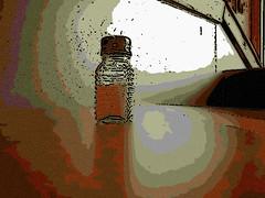Cartoon Salt Shaker on Table