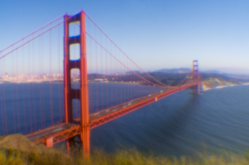 Golden Gate through a Pinhole