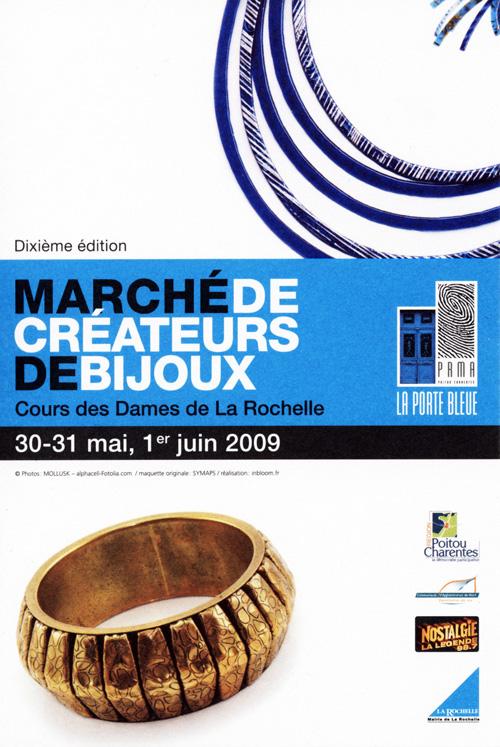 Flyer 10ème Marché de Créateurs de bijoux de la Rochelle