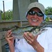 FISH BILOXI MISSISSIPPI - Brenda Underwood with a beautiful Spanish mackerel she caught while fishing aboard TEAM BRODIE CHARTERS - Photo by Capt. Robert L. Brodie