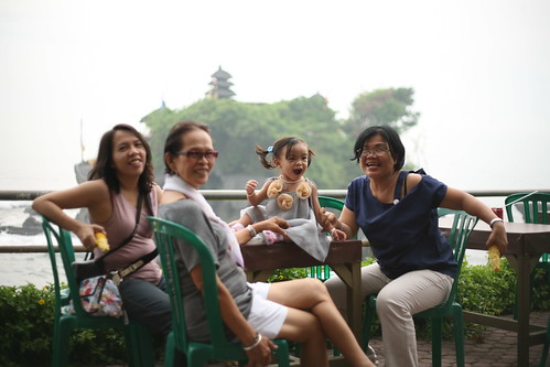 my ladies at Tanah Lot