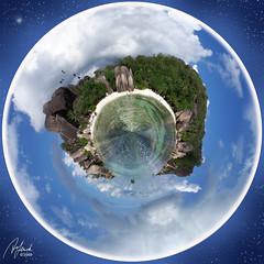 Bacar-die Kugel (Enchanted April) Tags: panorama beach strand island urlaub insel bacardi ladigue seychellen enchantedapril ansesourcedargent kugelpanorama fotogrfin anodynestock wcswildcat digea rosagranit