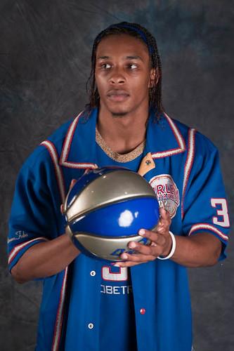 Male Model In Basketball Uniform