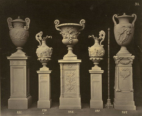 Terra Cotta Urns from Ernst March's Charlottenburg Factory by Cornell University Library