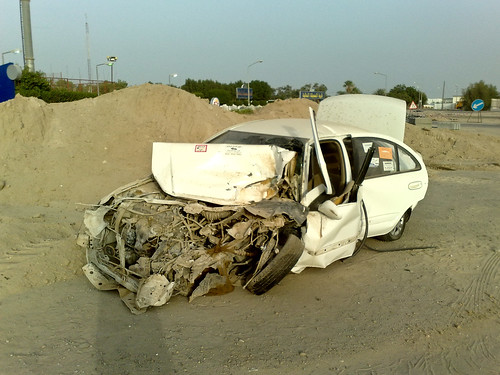Crashed Car Near Messila