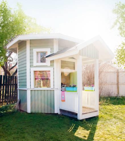 Una casita para ni os en el jardin for Casita infantil jardin