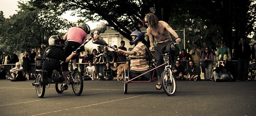 Bike Jousting, Portland 2009