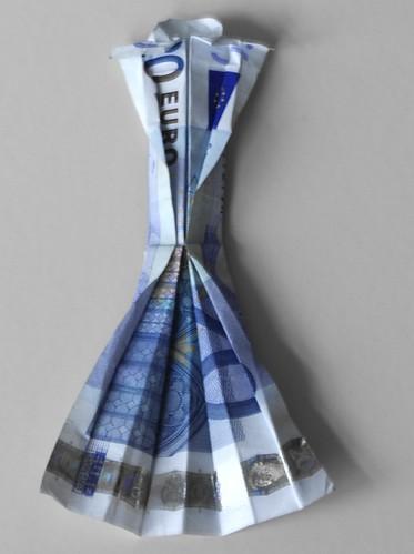20 Euro Origami Dress