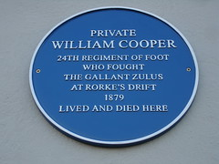 Photo of William Cooper blue plaque