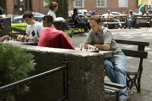 Chess tables, Wash Sq.
