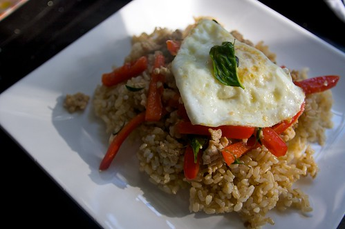 dinner: thai basil chicken