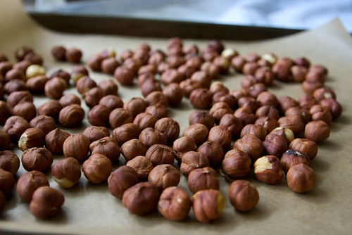 hazelnuts about to be roasted.