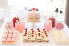 sweet little cake table (hello naomi) Tags: pink red party cute cake table cupcakes sweet chocolate lemonade