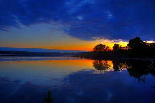 フリー写真素材, 自然・風景, 湖・池, 夕日・夕焼け・日没,