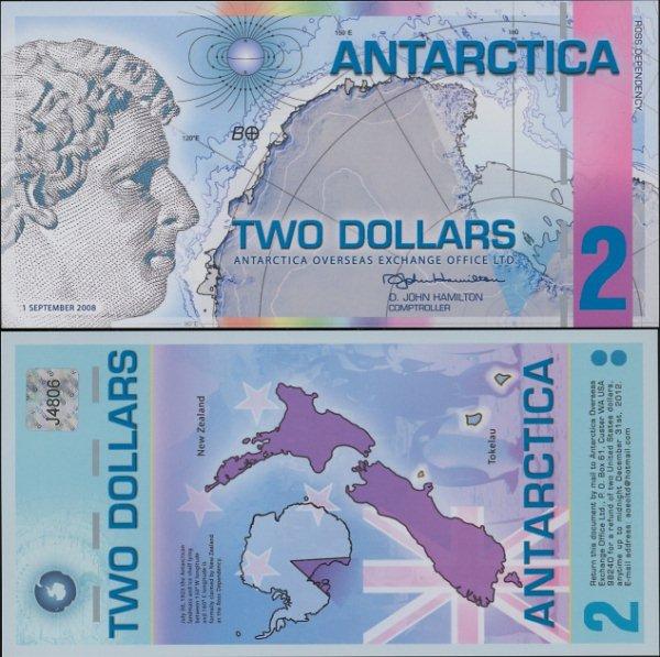 2 doláre Antarktída 1.9.2008