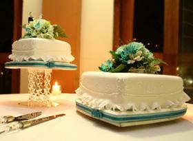Torta bodas 2 niveles
