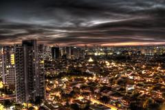 Orange. (s.pavan) Tags: longexposure canon landscape singapore 7d 24mm hdr marineparade 24105l 070511