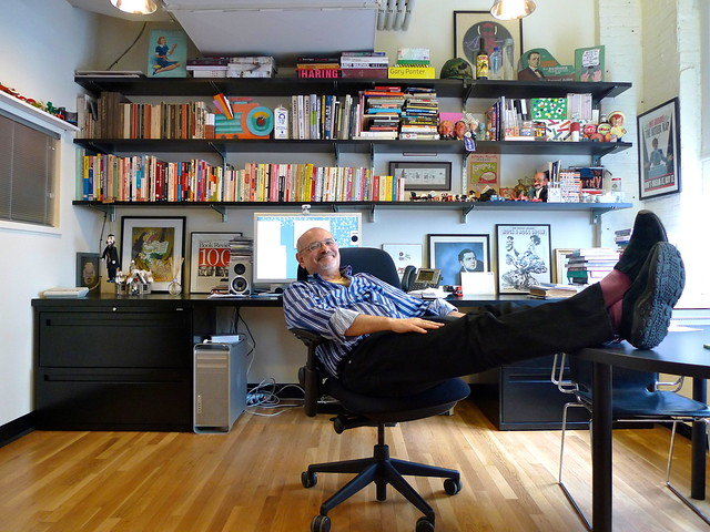 Steve Heller in his office