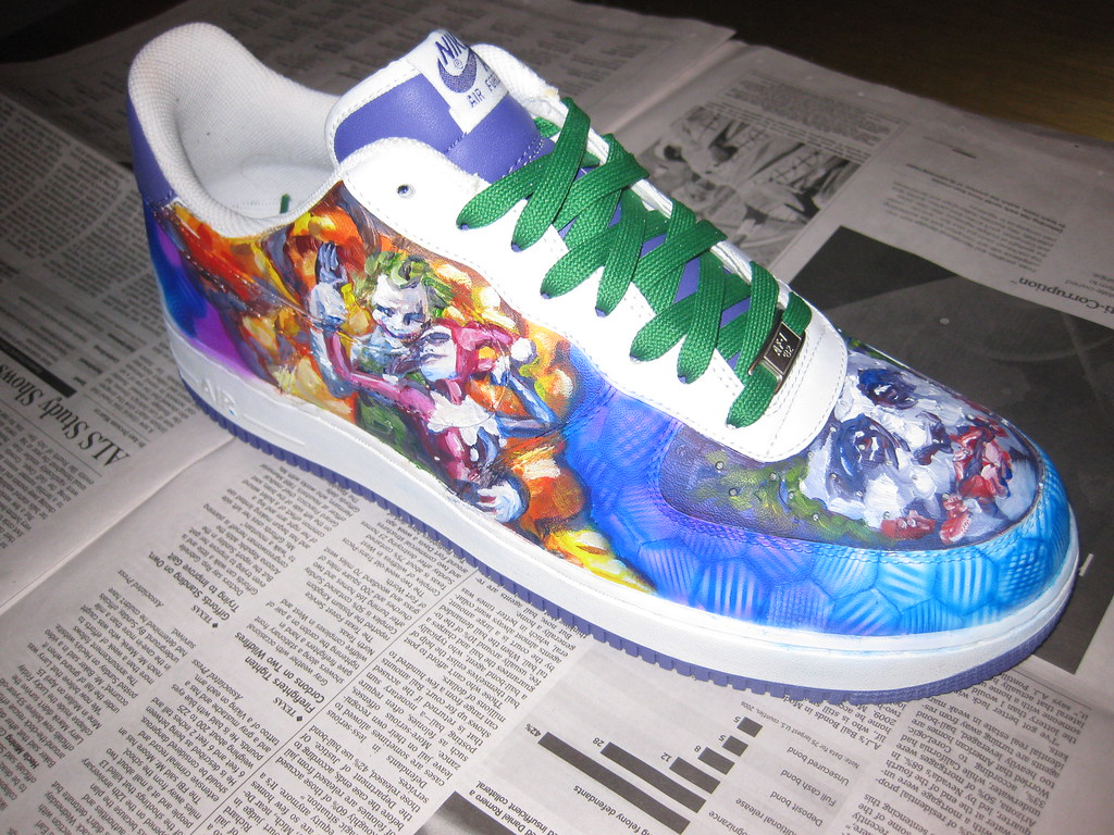 reputable site 64c39 5190c custom joker nike air force ones (theohoward) Tags  shoes force air nike  clothes