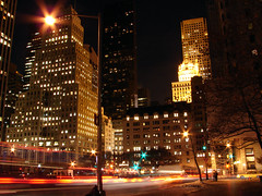 [2005] 5th Avenue at Night (Diego3336) Tags: park nyc newyorkcity longexposure winter light urban usa ny newyork motion building night america skyscraper buildings lights lowlight nightlights skyscrapers nightshot centralpark manhattan 5thavenue theplaza nightlight fifthavenue grandarmyplaza theplazahotel