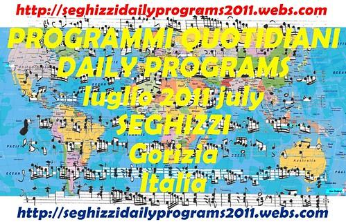 Programmi quotidiani dettagliati - Seghizzi daily programs