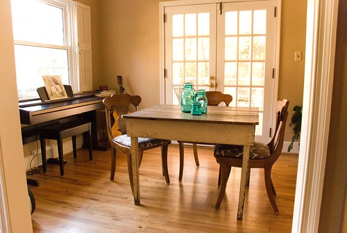 The matting is some leftover paper and trim from my wedding programs