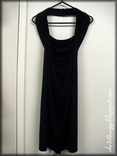 Black Low Cut Halter Mini Dress