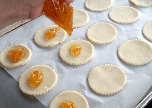 filling with orange marmalade