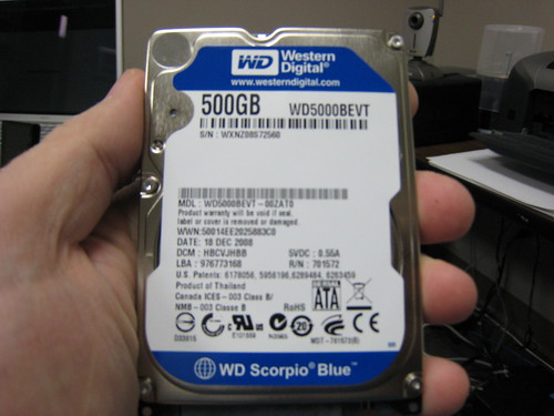 500GB WD Scorpio Blue