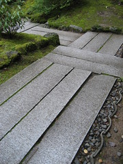 path (lauraknosp) Tags: stone oregon garden portland landscape japanese granite paving pdx portlandjapanesegarden pavers landscapearchitecture