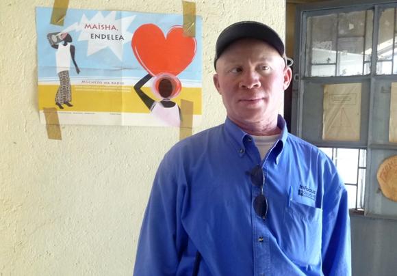 Juvénal Lushule, président de l'Association pour la Promotion des Albinos au Sud Kivu