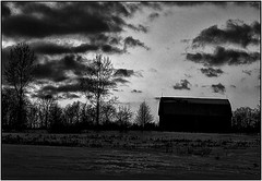Intense Black & White Sunset (Trostan) Tags: winter sunset bw white ontario canada black cold port paul bleak 009 mcalister trostan ryerse