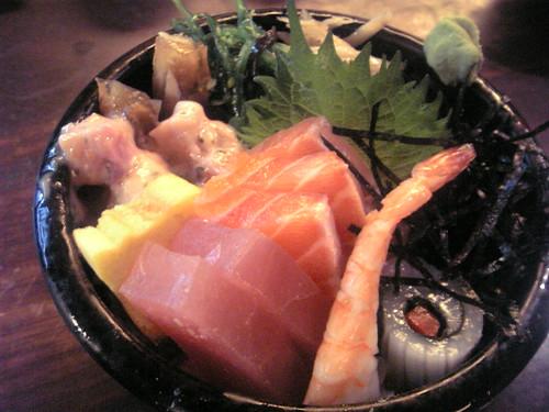 漁僮小舖-什錦丼(綜合刺身+小菜)