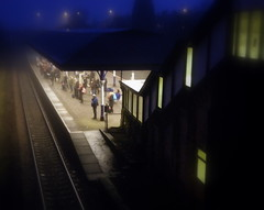 standing at the railway station... (perseverando) Tags: morning winter station early waiting platform january passengers commuters atherton betterthangood perseverando