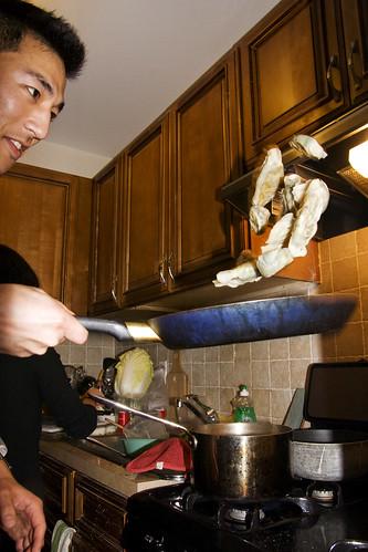 toss those dumplings!