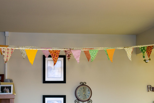 Birthday Bunting Hung up!