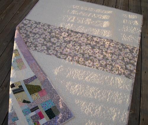 scrap quilt back