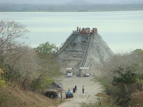 El Totumo - the strange mud volcano, 50 km NE of Cartagena - Colombia.
