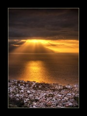 The Golden Light  (Alfredo11) Tags: lighting city trees light sunset sea sky orange naturaleza sun white seascape black reflection blanco luz sol beach nature water colors yellow clouds landscape mexico atardecer gold grey gris golden mar town agua nikon ray colours arboles place negro pueblo ciudad playa paisaje colores textures amarillo cielo nubes alfredo puertovallarta tones naranja obama texturas reflejos oro treatment rayos tratamiento d300 construcciones dorados tonos construccions anawesomeshot vosplusbellesphotos