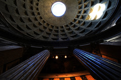 the pantheon inside (DeeDee Schroeder) Tags: blue italy rome columns pantheon cupola winner ribbon raphael hccity lightiq