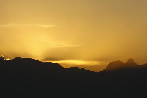 大霸尖山夕陽