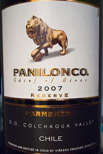 Panilonco 2007 Reserve Carménère (by Phanix)